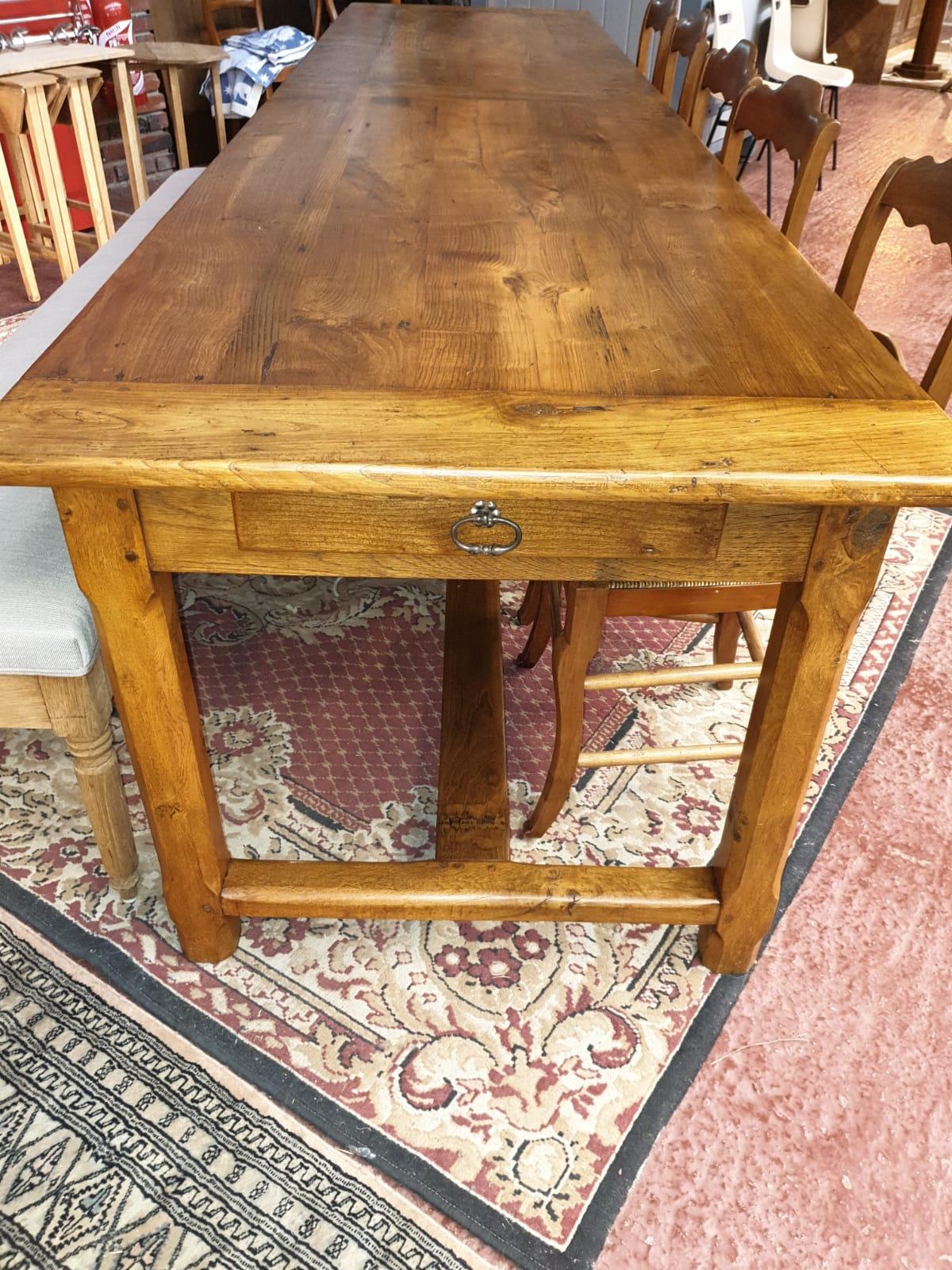 Tables rectangulaires   Table de ferme en chêne, antiquaire Le ...